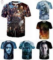 Game of Thrones 3D T-Shirt Full Print Color Tee Men Women Fashion Size S - 7XL