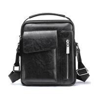 Men's Leather Messenger Briefcase Bags Cross body Handbag Shoulder Bag CHL