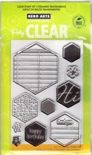 CLEAR HEXAGONS - Hero Arts Poly Clear Stamp Set