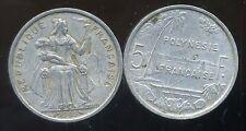 POLYNESIE francaise 5 francs 1965  ( 2 )