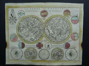 1780 CREPY atlas map  GLOBE CELESTE - Celestial World map