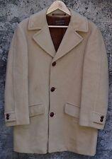 Pendleton Overcoat Camel Hair Coat Fur Lined Jacket Mens Large XL 40 42 VINTAGE