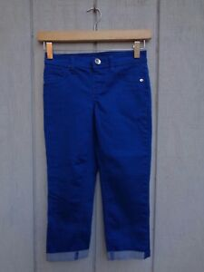 NEW JUSTICE Blue Jeans Pants Girls Size 10 R Capri Shorts Jeans