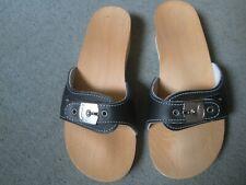 Scholl sandals very very dark navy,could be black? 38