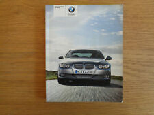 BMW 3 Coupe/Convertible Owners Handbook/Manual 07-10