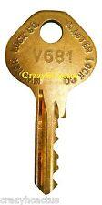 Master Lock Padlock 1525 1585 2010 2076 Control Key OEM Original Master Key V681