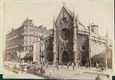 France, Lyon. Eglise Saint Bonaventure Vintage albumen print.  Tirage albuminé