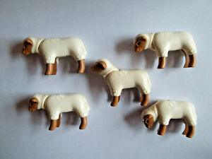 Playmobil,HAMPSHIRE SHEEP,LAMBS,LOT OF 5