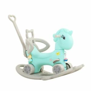 Shake Horse Children'S Plastic Rocking Cram One Year Old Baby Toy Small Dual-Use