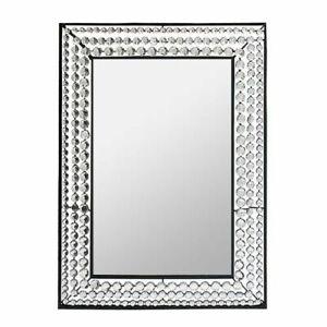 "29"" Decorative Wall Mirror Crystal - Wall Decor - Wall Mirror - Stone Mirror"