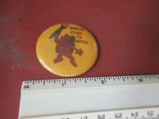Original Vietnam Napalm Stick To Hippies Flame God With Napalm 1 3/4 Pin
