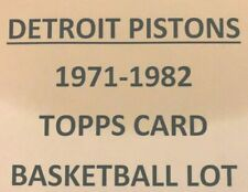 DETROIT PISTONS 1971-72 to 1981-82  LOT OF 54 DIFFERENT