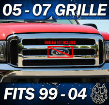 2006 F250 FORD CHROME GRILLE CONVERSION FITS 1999-2004 F350 Excursion