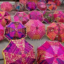 Wholesale Lot of 5 PC Traditional Indian Designer Handmade Sun Umbrella Parasols