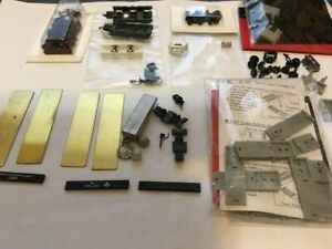 Z Scale Model Train Trucks, brass plates, weights, parts and details package
