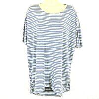 LuLaRoe Simply Comfortable Knit Dress Tunic Rayon Spandex Striped Women's Medium