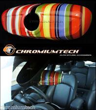 Multicolore Bande Coque De Retroviseur Manuel Dim F55 F56 MK3 MINI Cooper NEUF