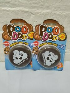 2 Poo Doo Poop Slime Squishy Bouncy Stretch & Twist emoji container Toy