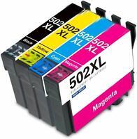 1 Set Ink Cartridges For Epson 502XL WF-2860DWF WF-2865DWF XP-5100 XP-5105