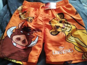 Primark Disney The Lion King Boys Swimming Shorts Aged 5-6 Years