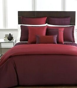 HOTEL COLLECTION OMBRÉ POMEGRANATE KING DUVET COVER & 2 EURO SHAMS