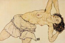 Egon Schiele -Weiblicher Halbakt Selbstklebende Poster-Tapete (180x120cm) #87013