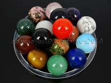 Natural Gemstones Harmony Round Ball Crystal Healing Sphere Rock Stones 16mm