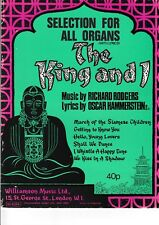 Rodgers & Hammerstein: The King and I, Selection for all organs. Voice, Chords.