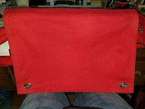 Marimekko Classic Red Messenger/Shoulder bag,original, sold @ Crate & Barrel 80s
