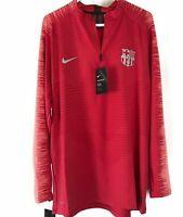 Nike FC Barcelona Vaporknit Quarter Zip Soccer Drill Top 894188 691 Men Size XXL