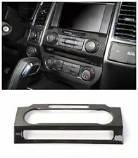 1x Carbon Fiber Audio Switches Panel CD Media Cover Trim For Ford F150 2015-2017