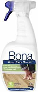 Bona Wood Floor Cleaner Spray for Varnished or Hard-Waxed Wooden Floors - 1L