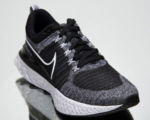 Nike React Infinity Run Flyknit 2 Men's Black White Low Running Shoes Sneakers
