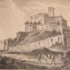 Becker J. -  BIEDERMEIER 1835  BRAUBACH Rhein MARKSBURG Rhein Rheinromantik