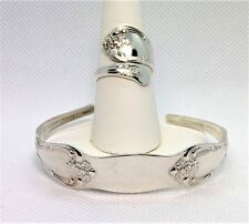 Beautiful Silverplate Pattern Ring and Bracelet Set by Oneiia Silver