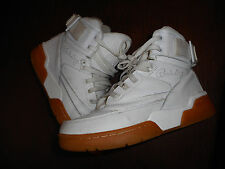 PATRICK EWING Mens White Gum Sole High 33 Basketball Sneakers Shoes Size 8.5