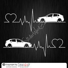 0655 | du rythme cardiaque Seat Leon 1 M Phrase Autocollant | Sticker