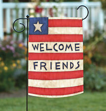 Toland Patriotic Welcome Friends 12.5 x 18 America Usa Double Sided Garden Flag