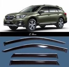 Chrome Trim  Window Visors Guard Vent Deflectors for Subaru Outback V 2015-2018
