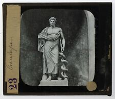 Italie Rome Statue Esculape Photo n17 Plaque de projection Lanterne Magique