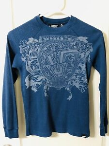VANS Blue Thermal Long Sleeve T-Shirt Kids Boys Size - Medium