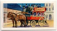 "1900 ""Knifeboard Bus"" Horse Drawn  London England  Vintage Trade Ad Card"