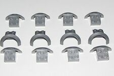 Lego 12 New Flat Silver Vehicle Mudguards 4 x 2 1/2 x 1 2/3 with Arch Round