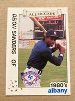 Deion Sanders Albany Yankees 1989 All Decade Minor League Card