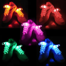 5Pair/Lot Waterproof Light Up LED Flash Dancing Unisex Shoelaces For DISCO Party