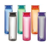 Cello H2O Unbreakable Water Bottle, 1000ml, Set of 6 BPA Free