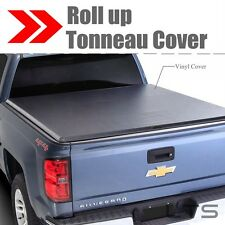 Lock Roll Up Soft Tonneau Cover For 1994-2003 GMC S15 / Sonoma 6 Feet 72inch Bed