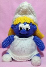 KNITTING PATTERN - Smurfette inspired chocolate orange cover or 18 cms Smurf toy