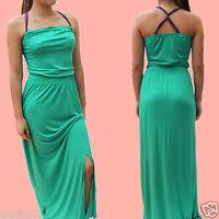 Next Green Jersey Purple Straps Maxi Long Summer Beach Holiday Dress 10,12,14,16