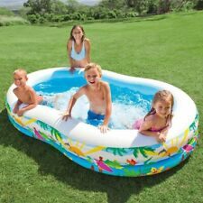 Intex Large Inflatable Paddling Seashore Garden Swimming Pool Fun In Hot Summer